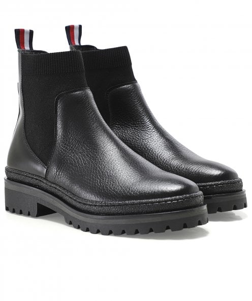 Tommy Hilfiger Signature Leather Chelsea Boots