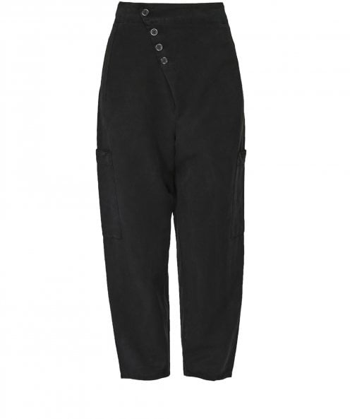 Lurdes Bergada Ninja Asymmetric Dropped Crotch Trousers