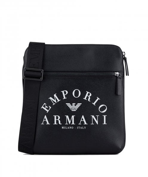 Armani Faux Leather Flat Shoulder Bag