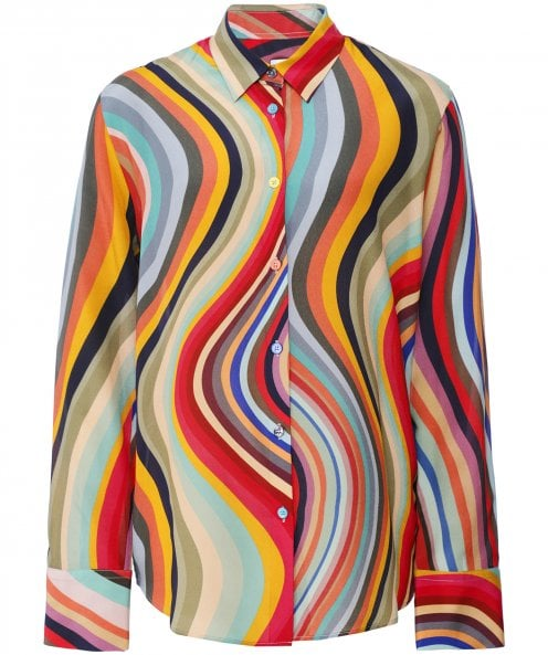Paul Smith Swirl Print Silk Shirt