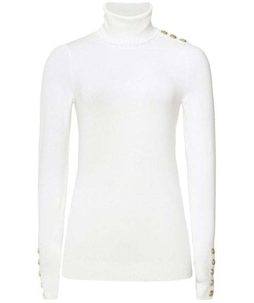 Holland Cooper Buttoned Roll Neck Jumper