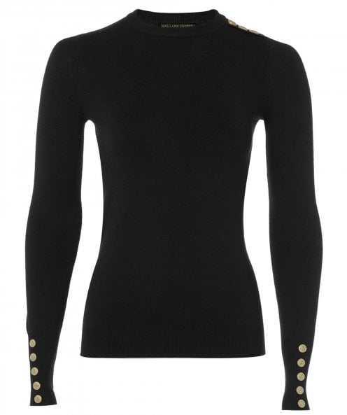 Holland Cooper Buttoned Crew Neck Jumper