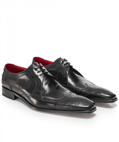 Jeffery-West Leather Scarface Wing-Tip Shoes