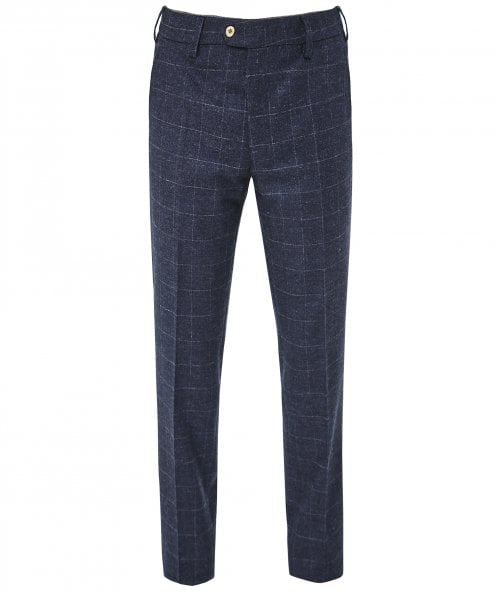 MMX Slim Fit Virgin Wool Check Lupus Trousers