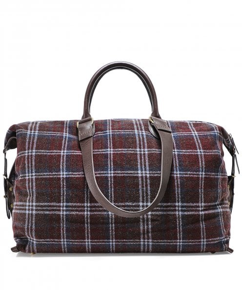 Hackett Wool Check Holdall
