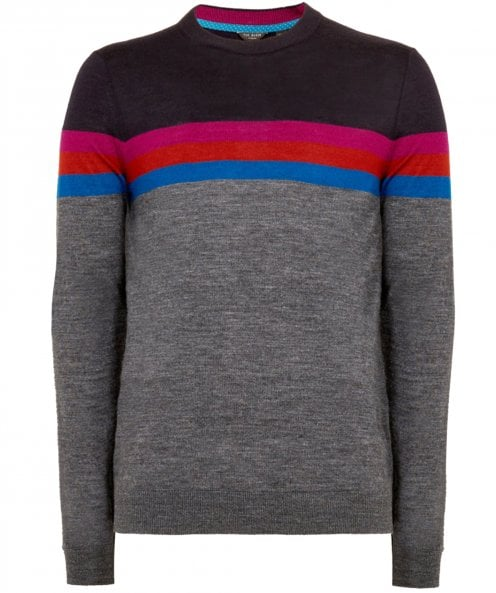 Ted Baker Wool Blend Colour Block Cowes Jumper