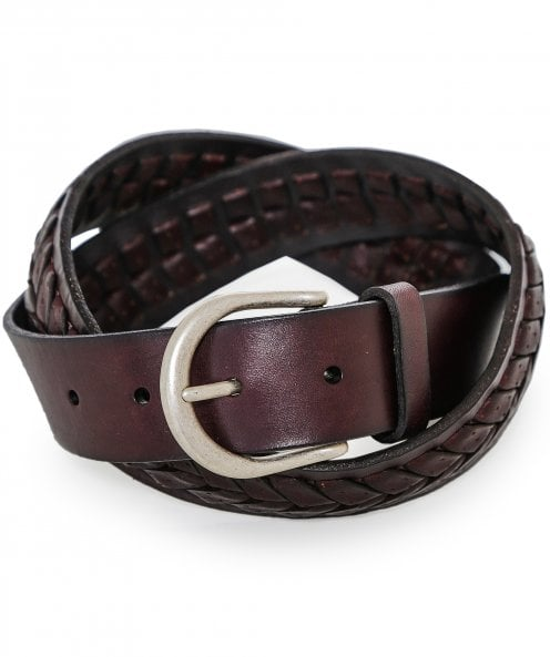 Hackett Leather Middle Plait Belt