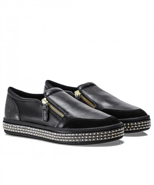 Geox Leather Leelu Slip-On Trainers
