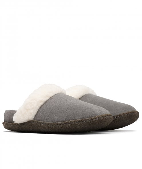 Sorel Suede Nakiska Slide II Faux Fur Lined Slippers