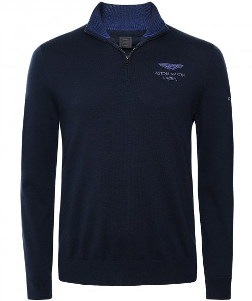 Hackett Cotton AMR Half-Zip Jumper