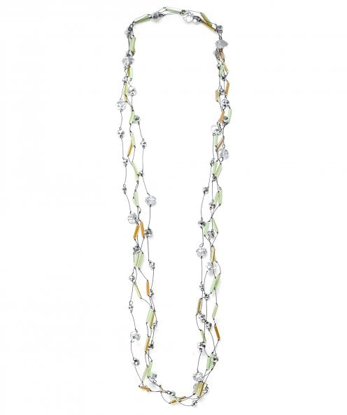 Jianhui Multi Strand Faceted Bead Necklace