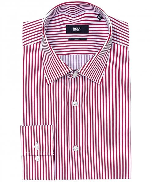 BOSS Slim Fit Striped Jango Shirt