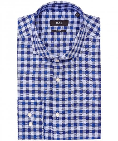 BOSS Slim Fit Gingham Jason Shirt