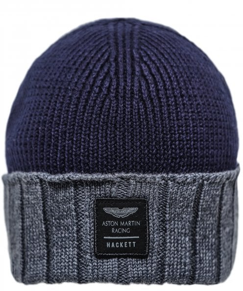 Hackett AMR Contrast Ribbed Beanie Hat