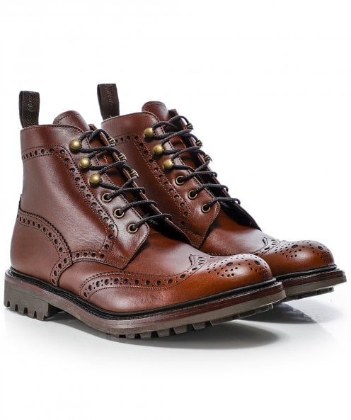 Loake Waxed Leather Glendale Boots