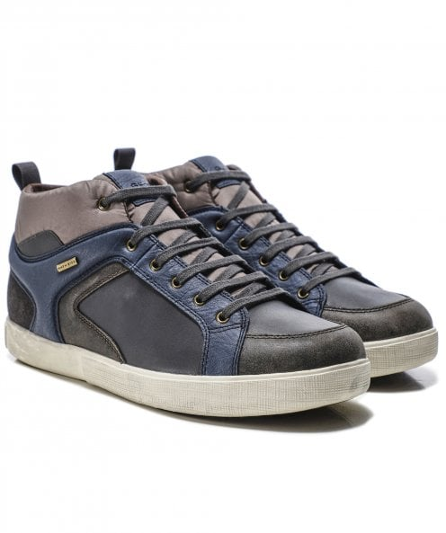 Geox Leather Mid-Top Taiki ABX Trainers