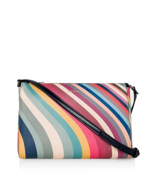 Paul Smith Spring Swirl Print Leather Cross Body Bag