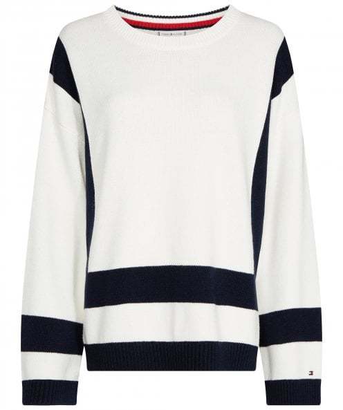 Tommy Hilfiger Marik Colour Blocked Crew Neck Jumper