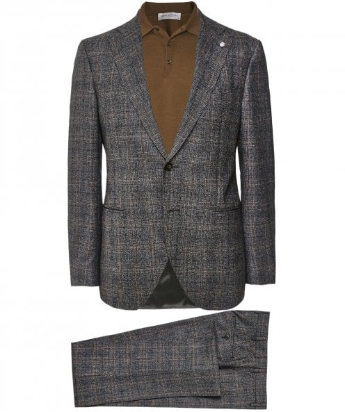 Luigi Bianchi Stretch Wool Check Suit