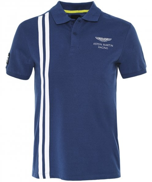 Hackett Slim Fit Vertical Stripe Polo Shirt