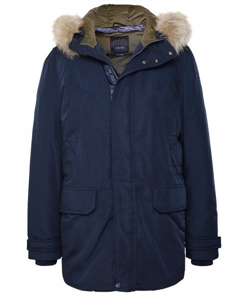Geox Water-Repellent Faux Fur Trim Norwolk Parka