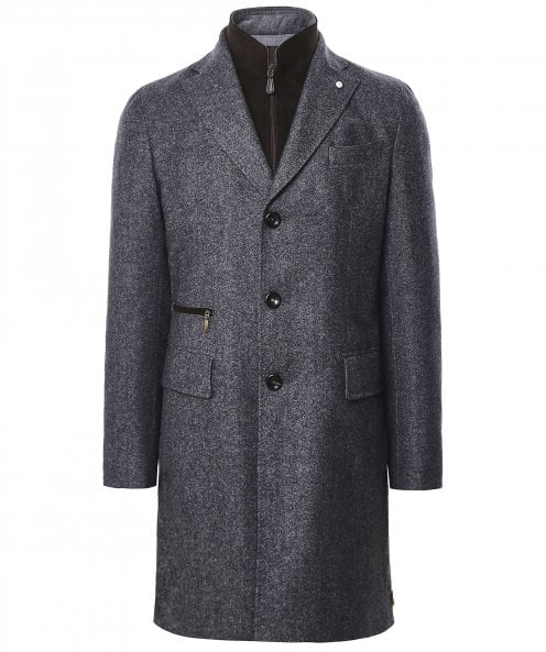 Luigi Bianchi Wool Flannel Removable Bib Coat