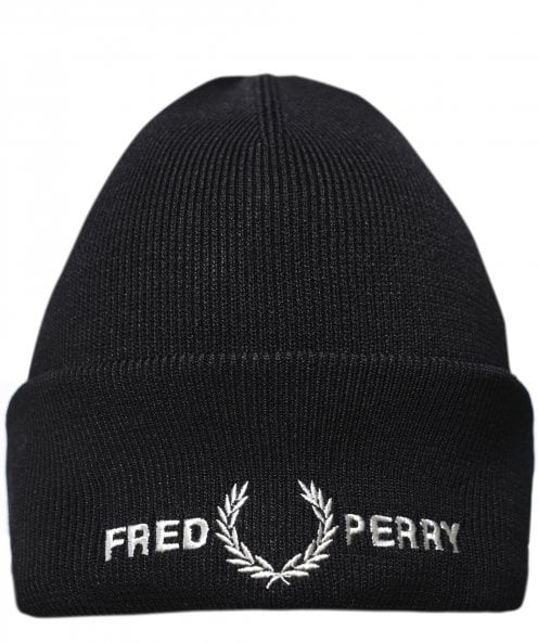 Fred Perry Ribbed Graphic Beanie C7141 102