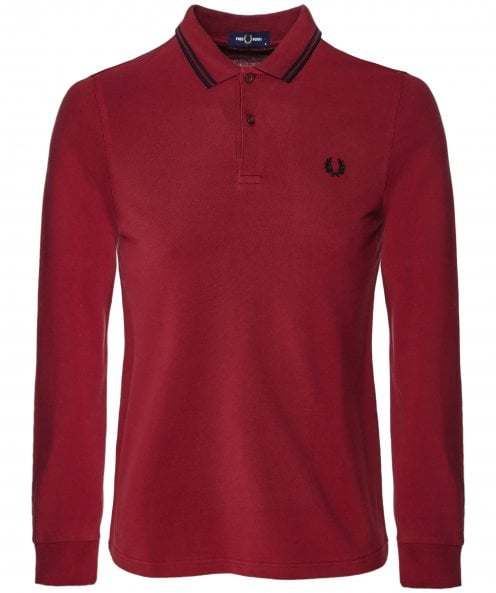 Fred Perry Long Sleeve Twin Tipped Polo Shirt M3636 D31