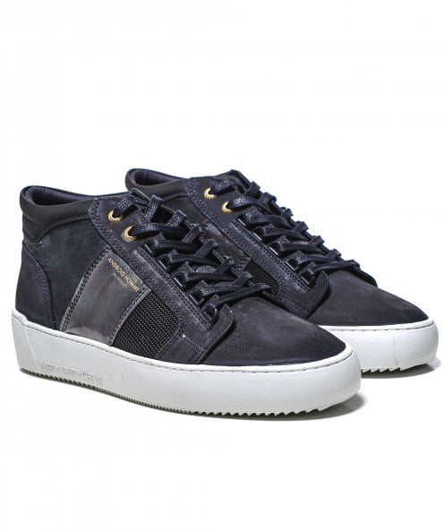 Android Homme Nubuck Iridescent Propulsion Mid Geo Trainers