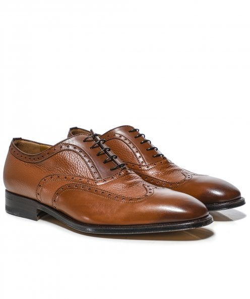 Stemar Leather Wing-Tip Trento Shoes