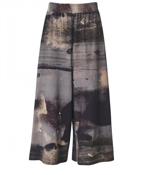 Crea Concept Abstract Print Jersey Culottes