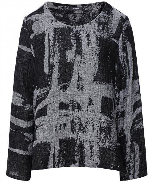 Ralston Aja Abstract Print Long Sleeve Top
