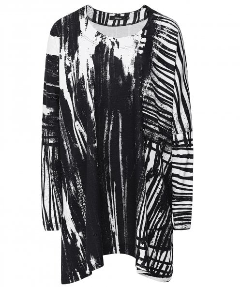 Ralston Tufi Abstract Print Tunic Dress