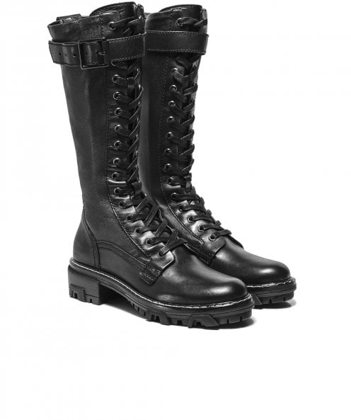 Rag and Bone Shiloh Tall Leather Combat Boots