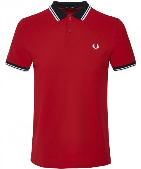 Fred Perry Contrast Trim Twin Tipped Polo Shirt M7589 I56