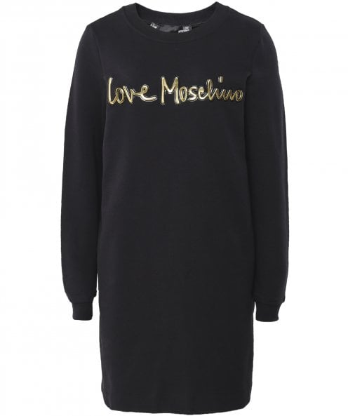 Moschino Love Moschino Logo Sweatshirt Dress