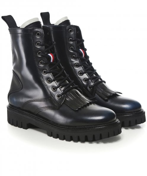 Tommy Hilfiger Iconic Polished Leather Boots