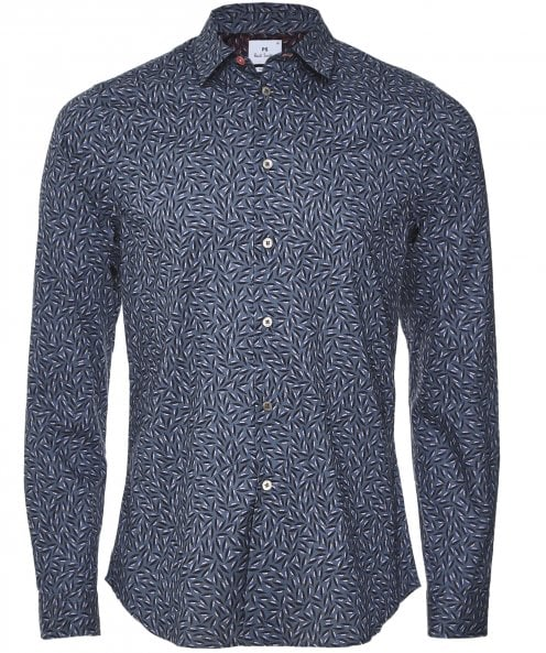 Paul Smith Slim Fit Leaf Print Shirt