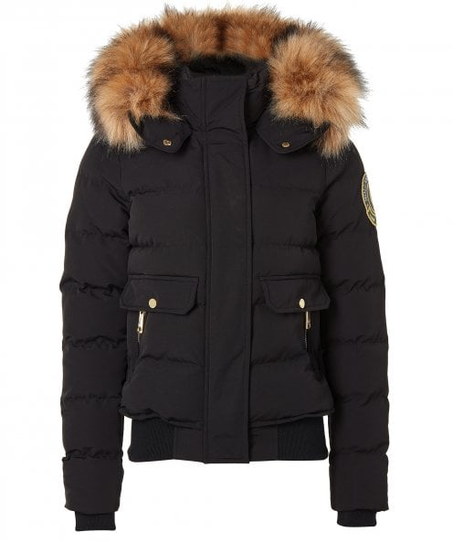 Holland Cooper Ventina Faux Fur Trim Puffer Jacket