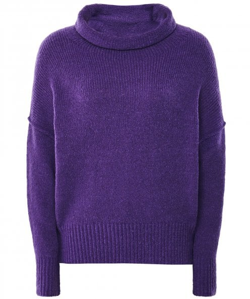 Grizas Wool Blend Oversized Cowl Neck Jumper