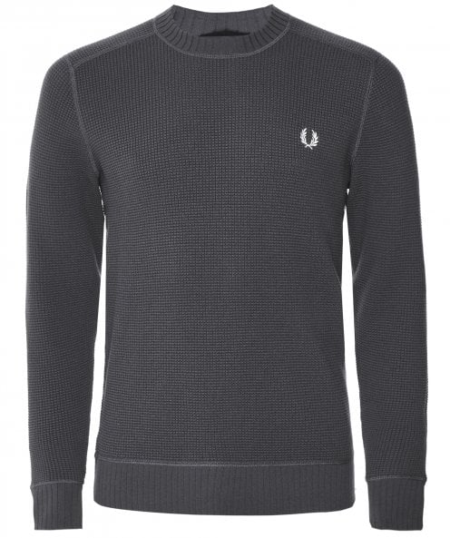 Fred Perry Crew Neck Waffle Texture Jumper K7520 491