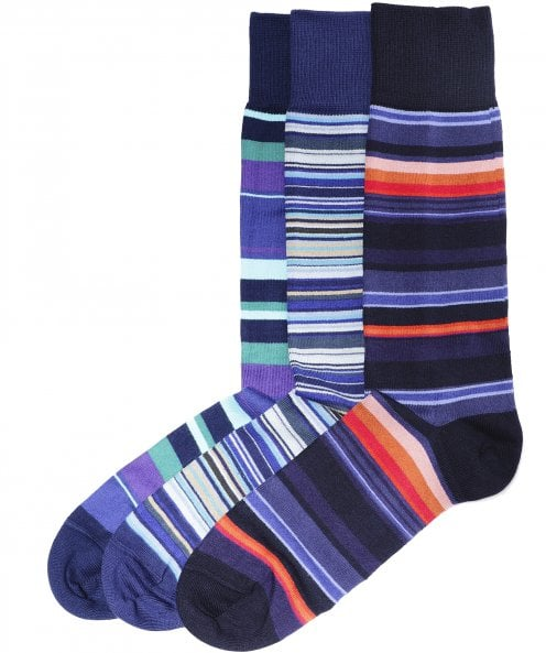 Paul Smith Three Pack of Striped Socks