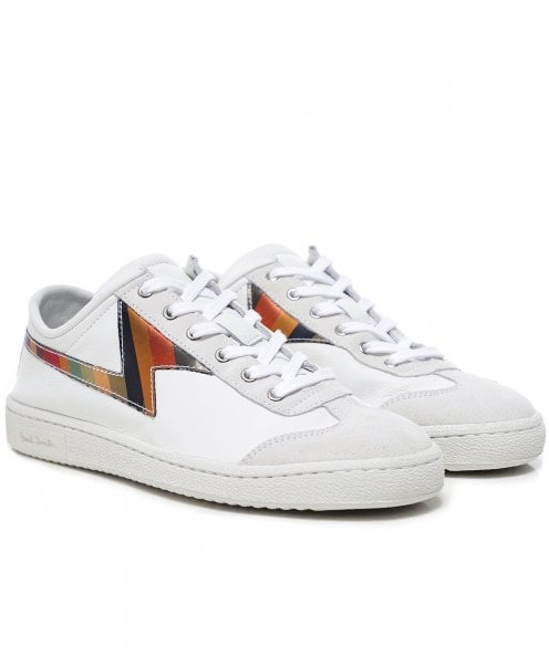 Paul Smith Stripe Ziggy Leather Trainers