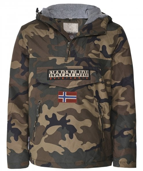 Napapijri Waterproof Camouflage Rainforest Pocket Jacket