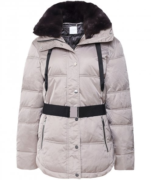 Rino and Pelle Elleni Faux Fur Trim Puffer Jacket