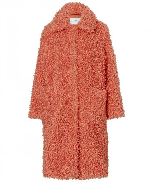 Stand Studio Taylor Oversized Faux Shearling Coat