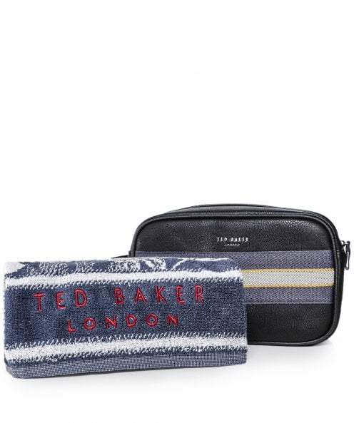 Ted Baker Faux Leather Wash Bag & Towel Set