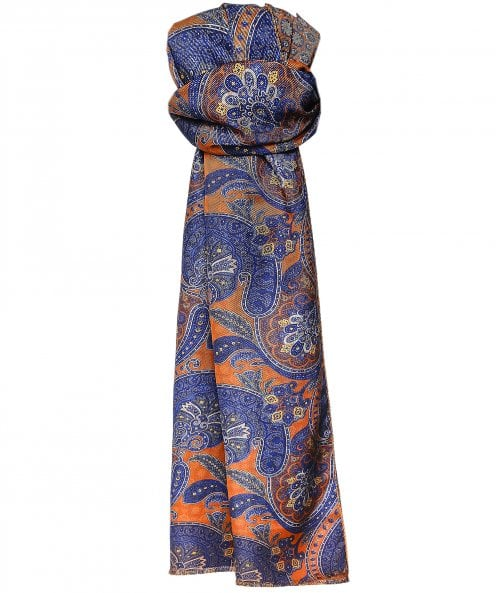 Stenstroms Silk Reversible Print Scarf