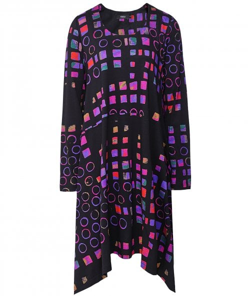 Ralston Sveta Abstract Shape Print Dress