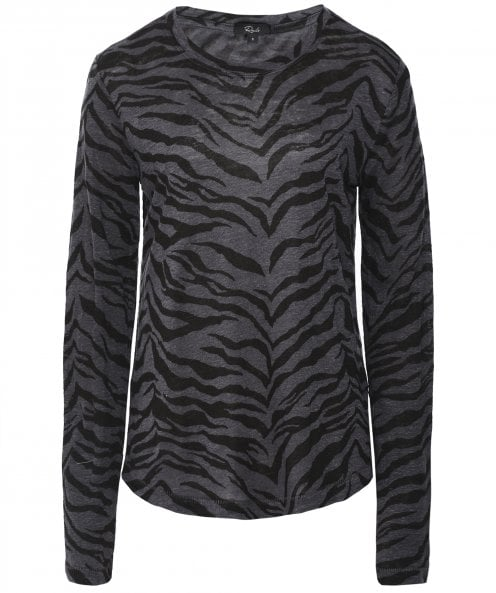 Rails Sully Tiger Print Long Sleeve Top